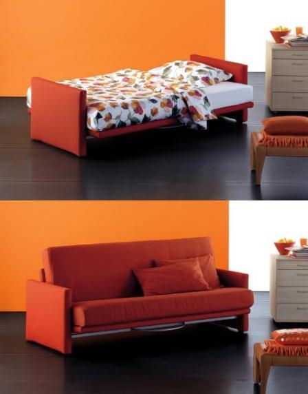 sofa cama naranja