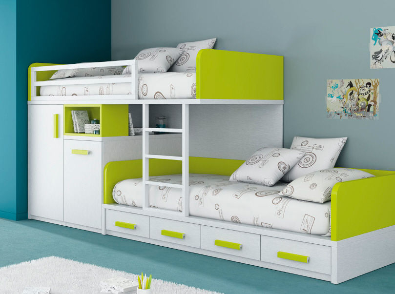 Awesome Kids Beds With Storage Modern Kid Bedroom Interior