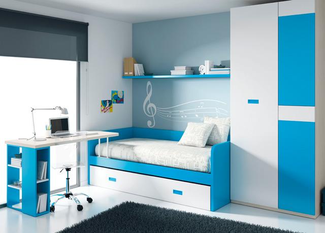 camas nido con escritorio